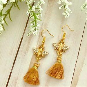 Jewelry - Bumble Bee Tassel Earrings